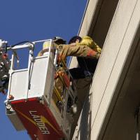 消防訓練に参加して