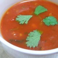 香菜のトマトスープ