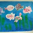 小学部1年 絵の具で海をつくったよ