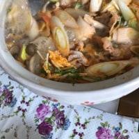 今日のお昼ご飯  キムチ鍋