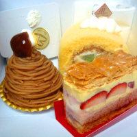 小松のビロンのケーキとパン