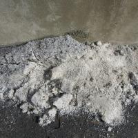 【写真】雪がとけたら塩が残ったよ!