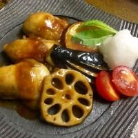 炙りサーモンと牡蠣