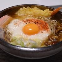 あったまる、天ぷらとろろ蕎麦を・・・
