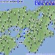 7月28日 アメダスと天気図。
