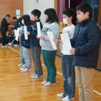 児童朝会(認証式)
