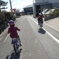 孫とサイクリング