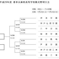 2017年 春季軟式高校野球兵庫県大会 対戦組み合わせ