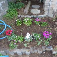 花壇!花も植えて・・・春を待つ・・・!!!