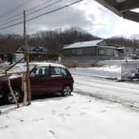 今朝の積雪にびっくり!