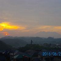 06月27日、朝の桜島
