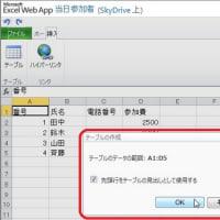 インターネット上のExcel(Excel Web Apps)その2