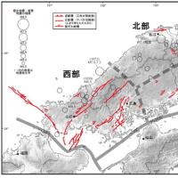 M6.8以上中国地方活断層地震が30年以内で50%と非常に高い発生確率⇒岡山県と広島県東部は2~3%の低い確率。