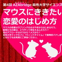 【ご紹介】10/30 相模原・矢部のトークイベントAZAbridge「マウスにききたい!恋愛のはじめ方」
