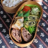 つくねの照り焼きと小松菜のたいたの♪冷たい茶碗蒸し