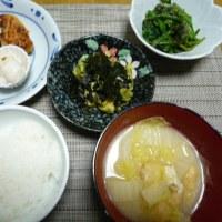 昨日の昼~今朝のご飯