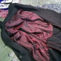 新年の繕い物 角袖コート
