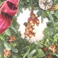 昨年のクリスマスリース風景