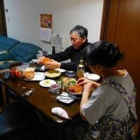 夕食と毛ガニ