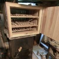 薪ストーブ貫材強制乾燥機
