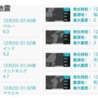 海外でも日本でも地震が起きています。地球がどうにかなってきていますか?不気味だなあ。