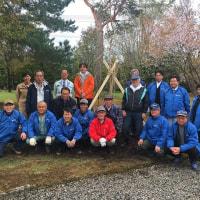 美瑛神社、植樹活動