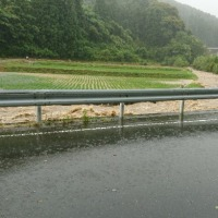 大雨のパトロール