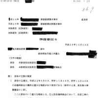 【369】損害賠償請求事件訴訟裁判の経緯。