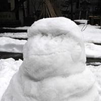 アオーレ長岡にて雪像を作りました!