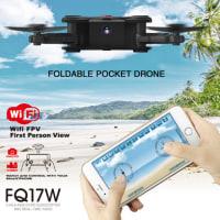 5%off-FQ777 FQ17W Wifi FPV 0.3MP カメラ 高度ホールド 折り畳み式 アーム RC クアッドコプター RTF在庫あり
