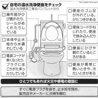 自宅のトイレ、火の用心!