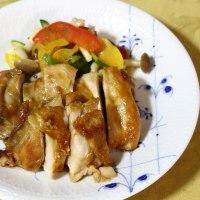 ピッツァ&鶏肉の照り焼き