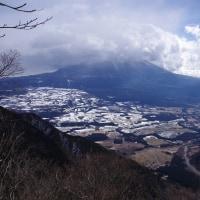 新年初登山は毛無山、正月太りできつい! 大寒波寒い! 2017.1.14