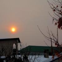 赤い太陽とシメ