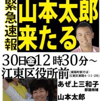 山本太郎議員、共産党候補者支援に‼️