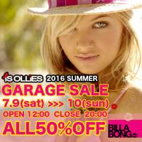 毎年恒例の夏物「ガレージセール」開催!!7月9日−10日@iS OLLiES隣倉庫1F
