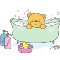 風呂に入ります。
