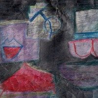 台風の前に吹く風(色鉛筆作品446) と ヒロクニさんの教育勅語体験