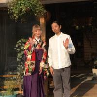 袴で大学の卒園式(coya+LIM様にて)
