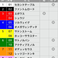 8/28【キーンランドC[GⅢ]】[枠連]的中!予感