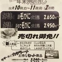 JFえりも漁協 直売店 年末売出し第1弾 2016.12.10~11 毛がに\(^o^)/