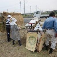 10月21日 本日は国立市農業委員会で稲作体験水田の脱穀を行いました
