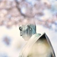 「侍の花見」 いわき 松ヶ岡公園にて撮影! 安藤信正公の銅像