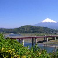 富士川SAから見た富士山