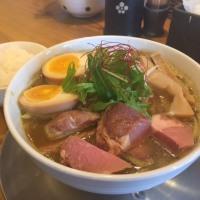 味噌カリーそば・太麺仕様😊