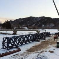 復旧作業橋(千露呂橋)北海道沙流郡日高町千栄地区