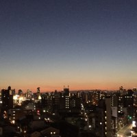 もう、、きれいだな、、夕方の空