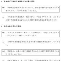 日本銀行代理店の集約・廃止のお知らせ(甲府地方法務局大月支局)