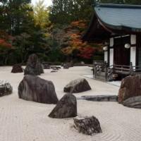 高野山の庭。