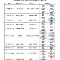 平成28年度 堺・泉北中学年リーグ戦後期リーグ組合せ表